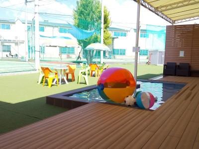 暑い日は、水遊びできます☆水深50cm